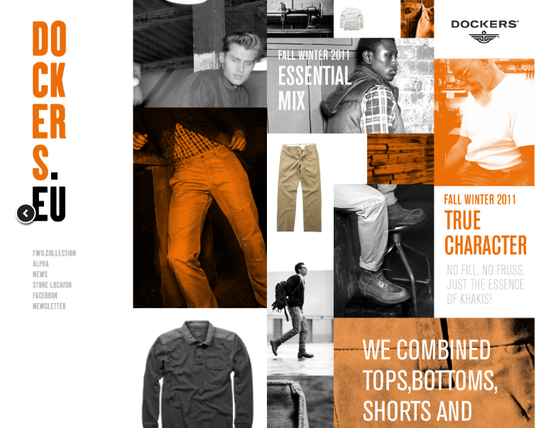 Dockers web design