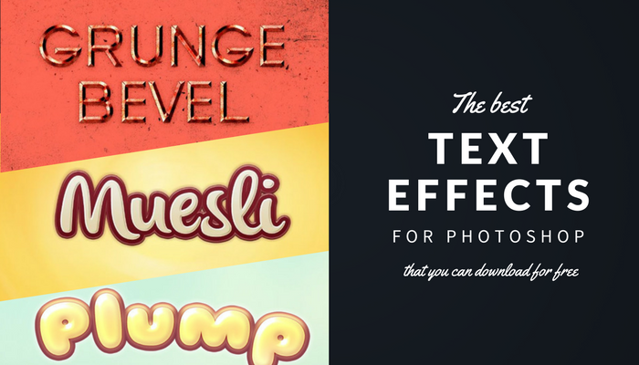 Best Photoshop text effects