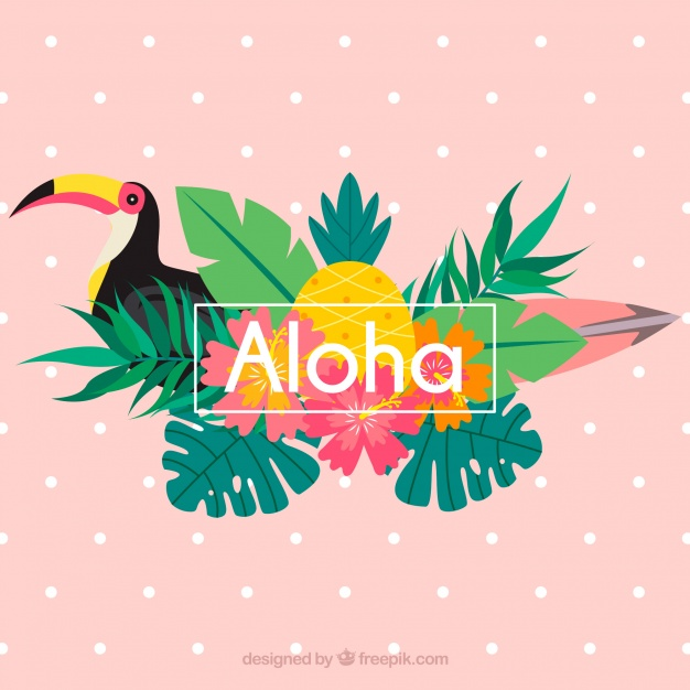 tropical aloha background