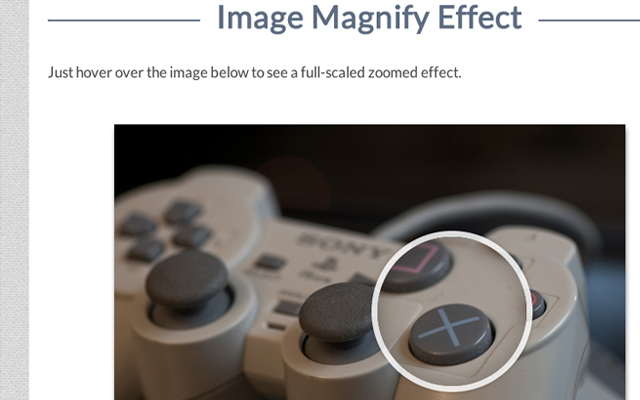 magnifying glass zoom image hover effect jquery screenshot