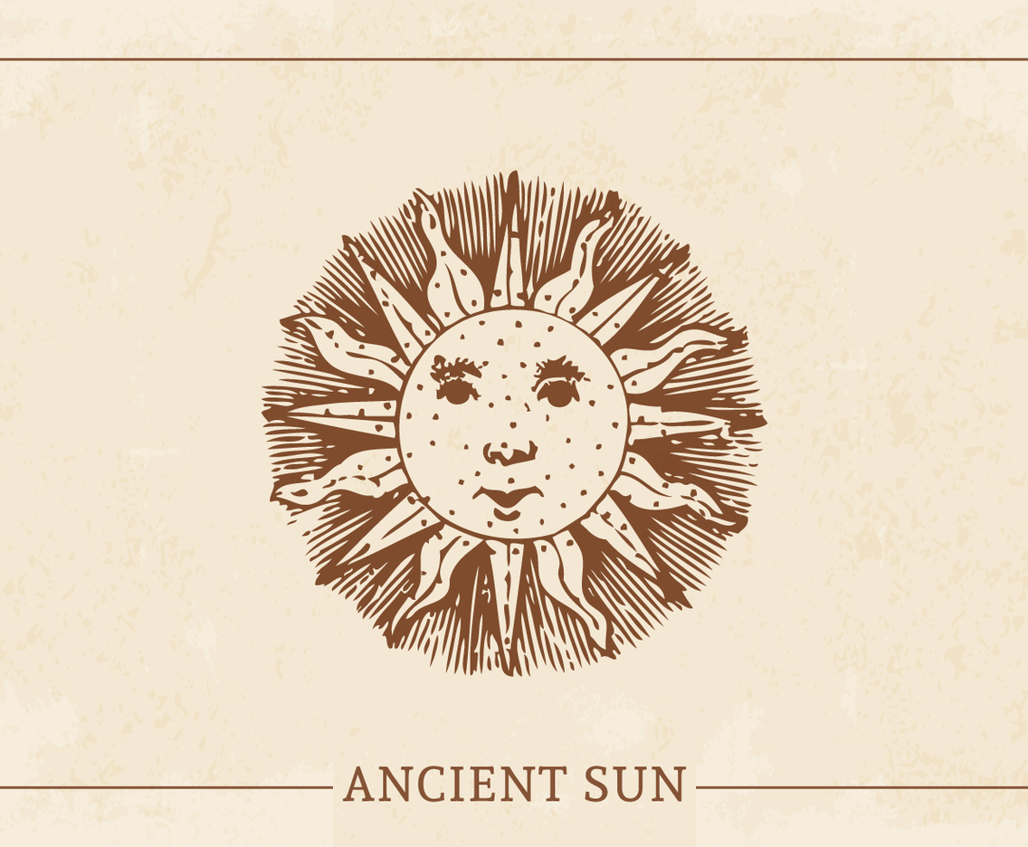 ancient sun design elements