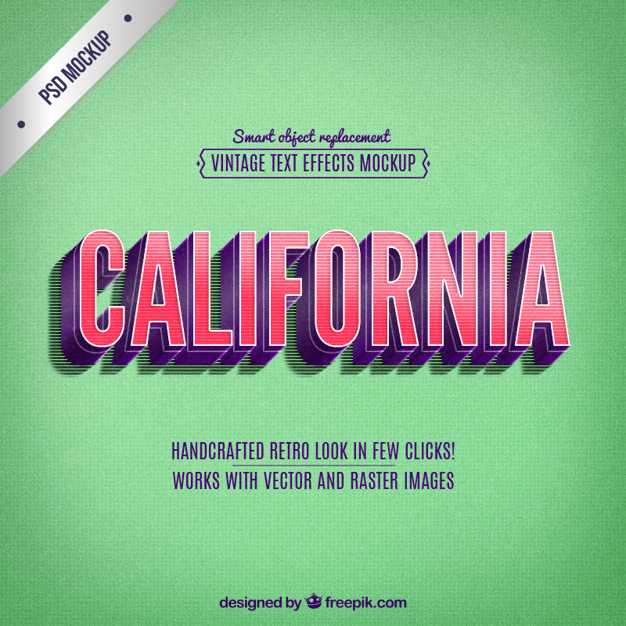 Retro California Lettering