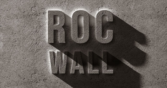 Rock text effect