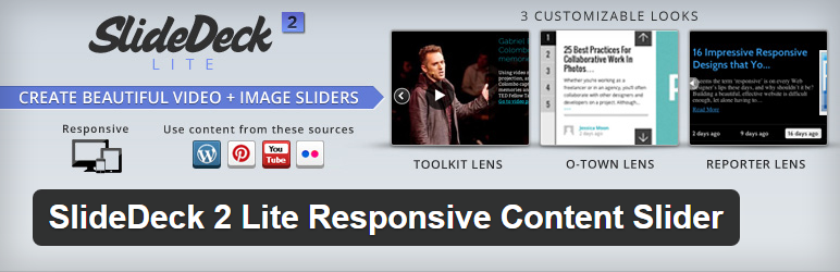 SlideDeck 2 Lite Responsive Content Slider - Essential WordPress Plugins to Make the Designer's Life Easier