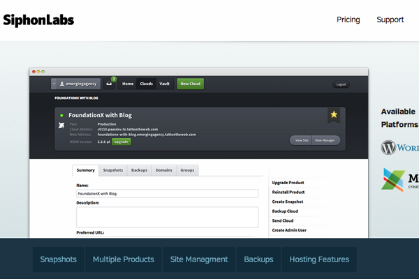 Featured image for Introducing SiphonLabs: Web Hosting Platforms in the Cloud