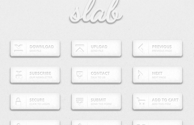 freebie slab buttons grey pack psd