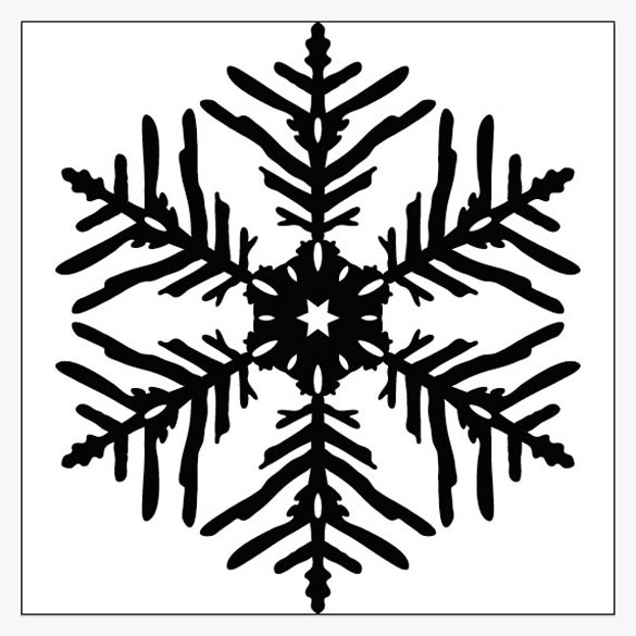 How To Design a Beautiful, Symmetrical Snowflake in