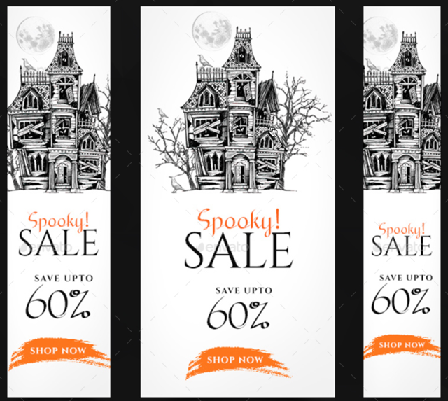 halloween sale digital banner