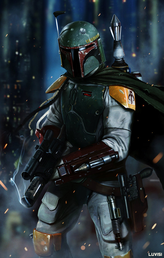 Boba Fett digital illustration