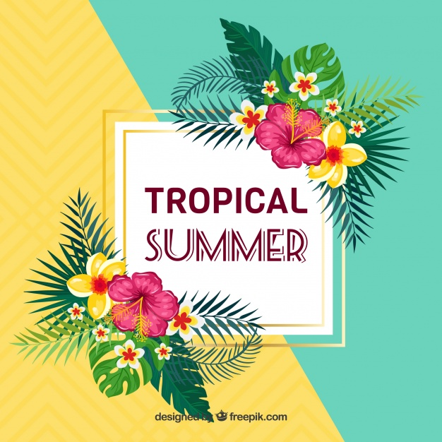 floral tropical summer design