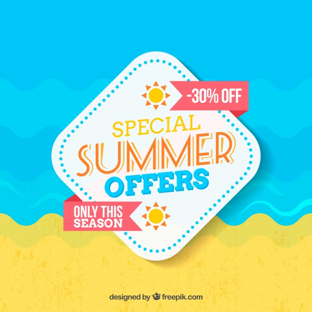 summer sale design illustration