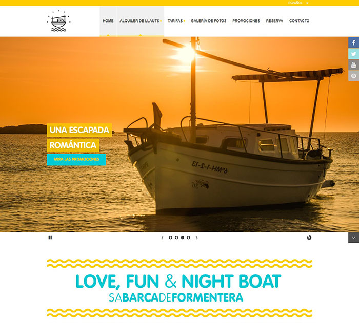 summer website themes sa barca