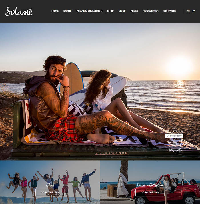 summer website themes solasie