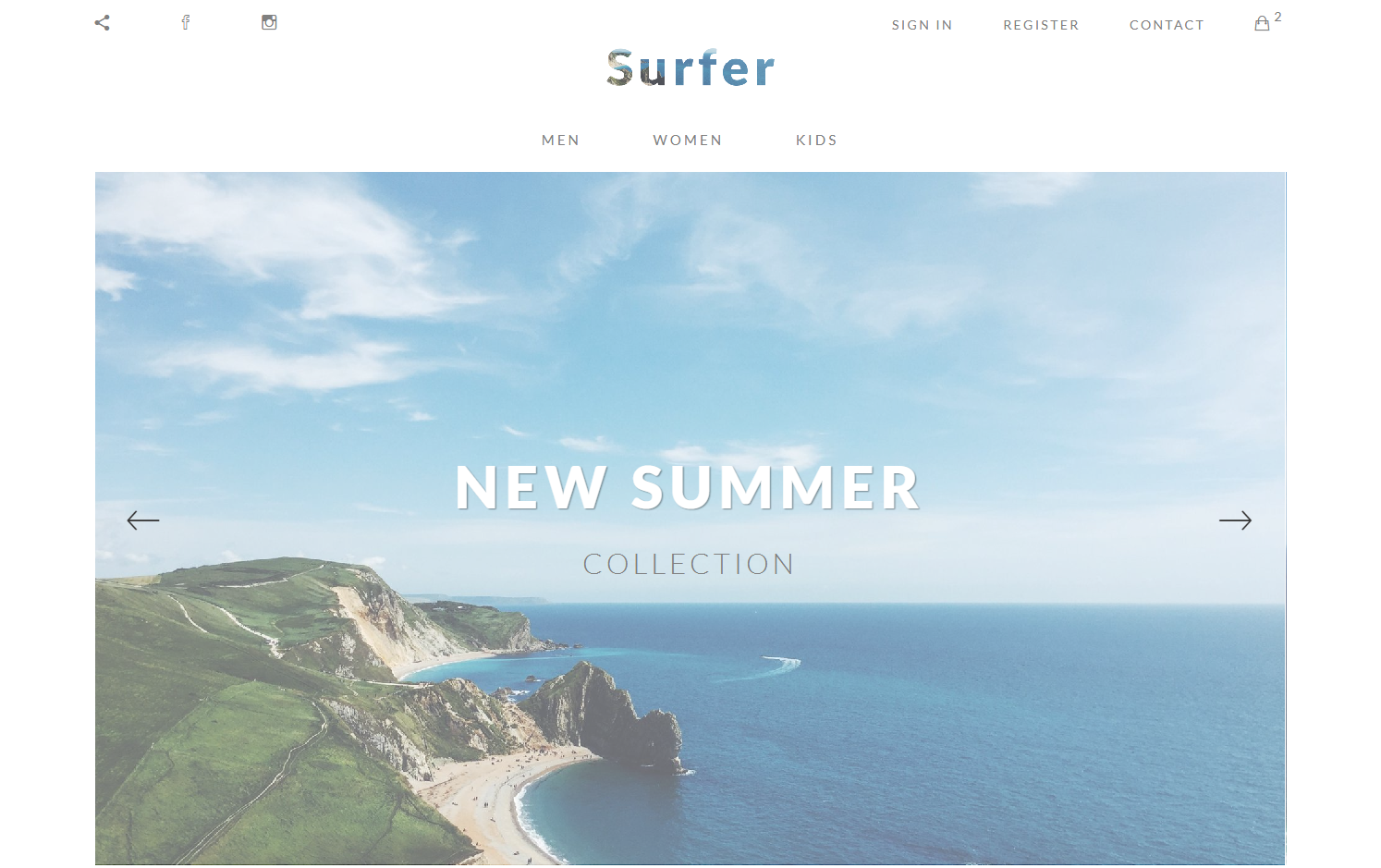 summer website templates surfer