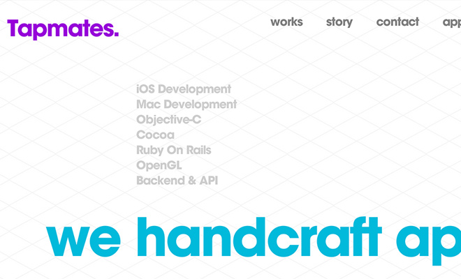 tapmates inc website typography content