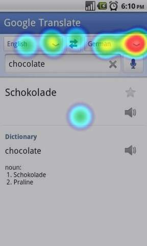 Google Translate - Android - Heatmap