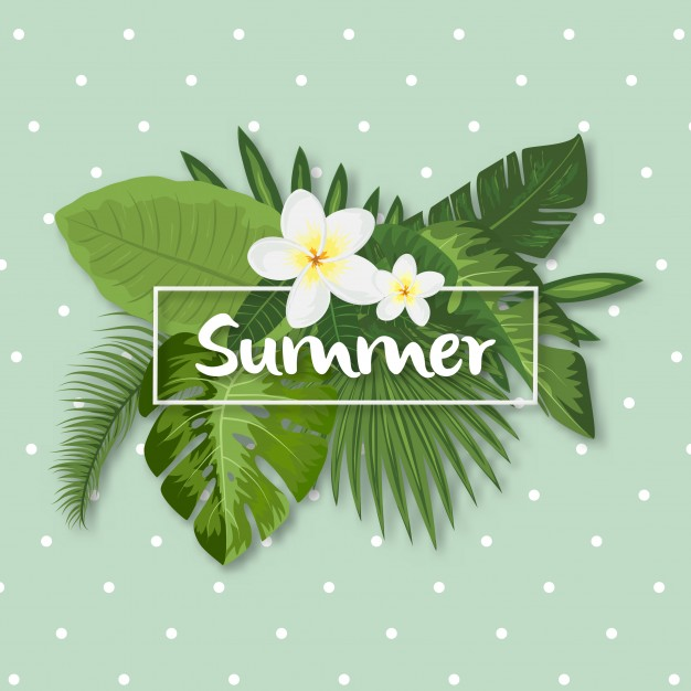 tropical summer design elements