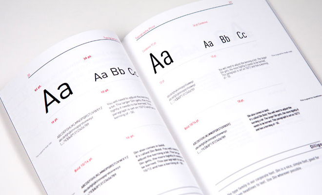 branding typography project styles guidelines