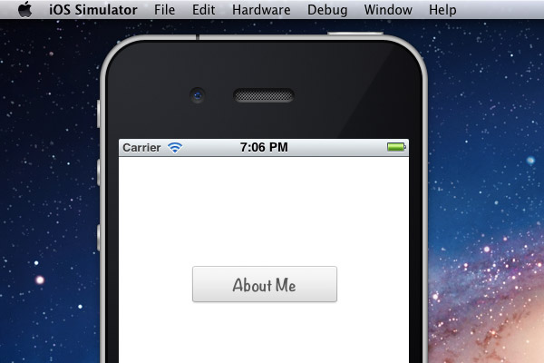 Custom iPhone UIButton Xcode app - final preview