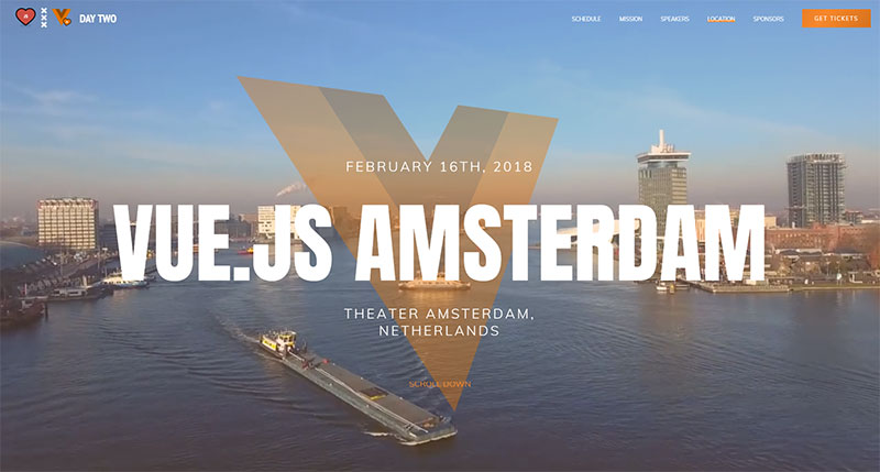 creative website showcase vuejs amsterdam