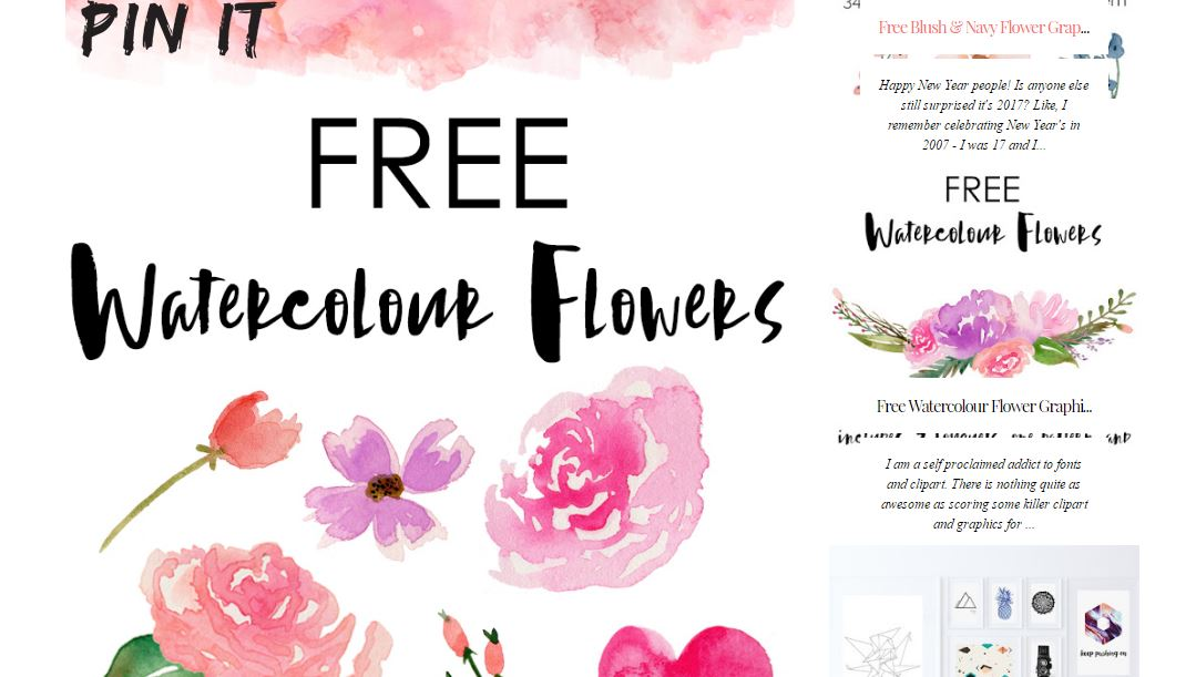Free Watercolor Flower Designs