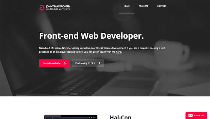web designer portfolio johnny maceachern