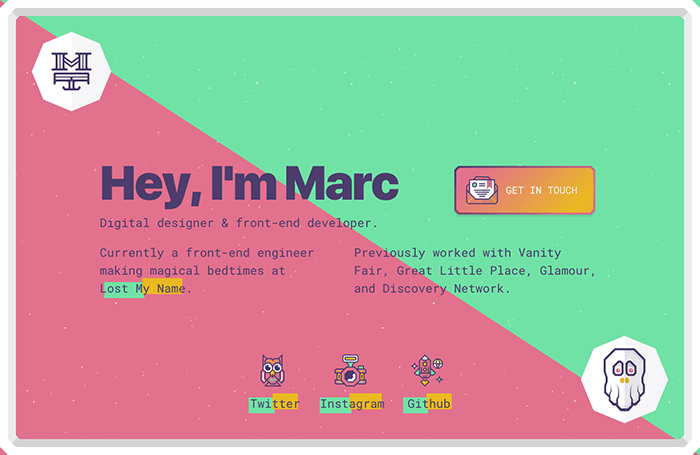 web developer portfolio marc thomas