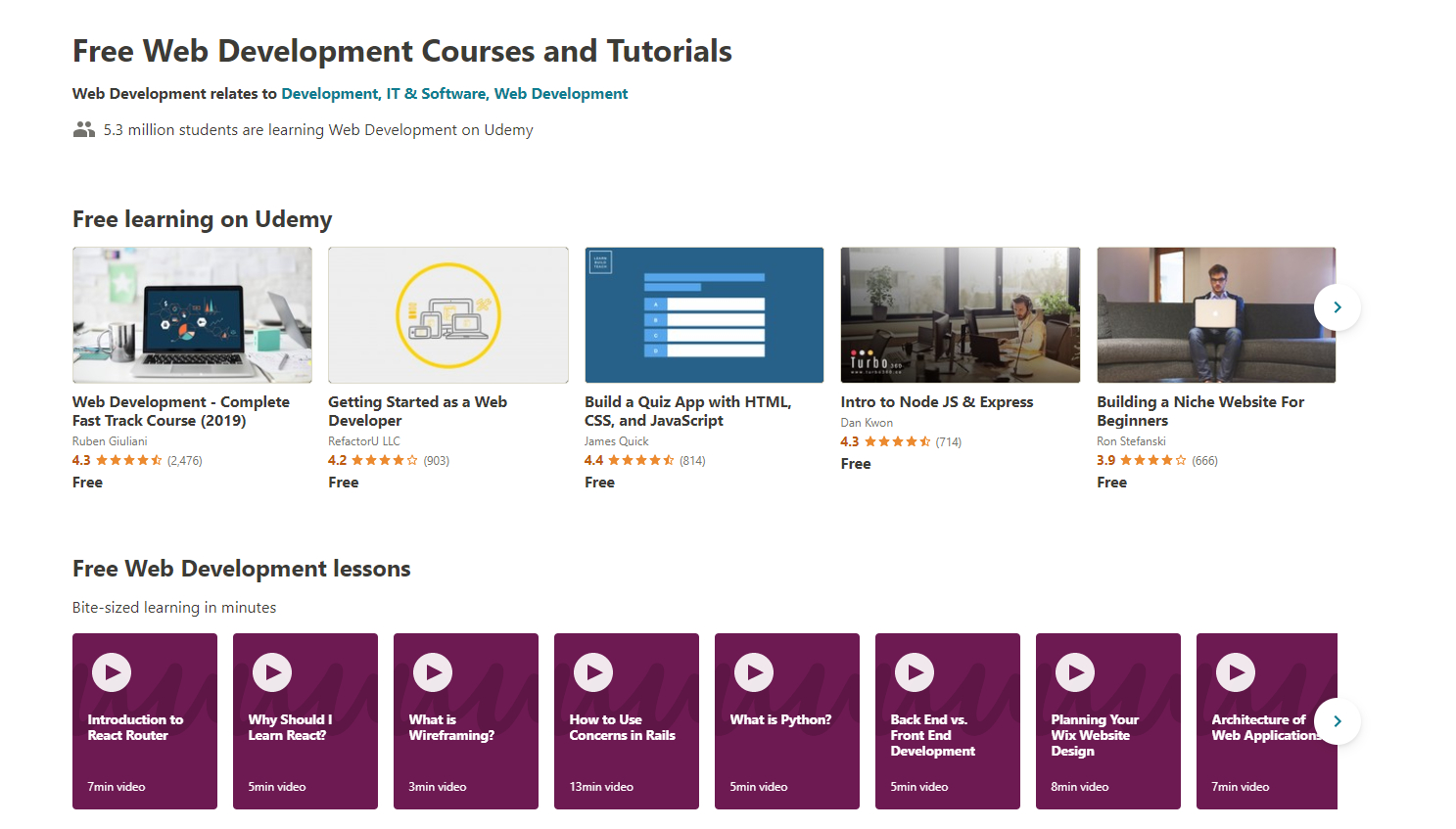12 Free Web Development Courses To Take While In Self Isolation Medianic