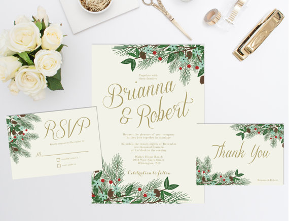 Wedding and Xmas Invitation