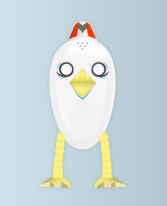 Design a Wingless Bird Character in Illustrator